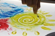 Pintura y mesa luminosa