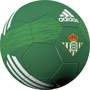 Fantástico Balón Adidas, Marca oficial del Real Betis Balompié. Color Verde con Escudo del Club. Producto de Alta Calidad.