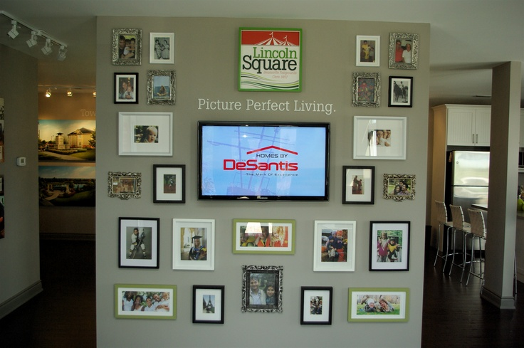 Picture perfect living... inspired by a family wall - though it's much more organized!!