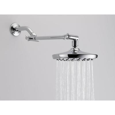 delta 1 spray 7 5 in raincan shower head in chrome