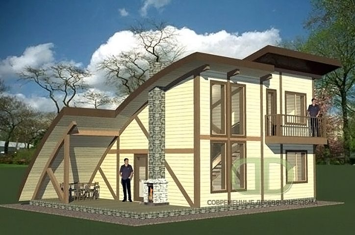 Проекты небольших домов, Типовые проекты, Деревянные дома семейного типа - строительство
