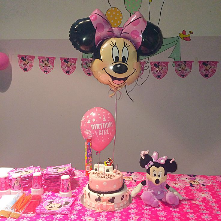 My little girl's mini mouse themed three year old birthday party