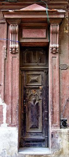Weathered door in Havana, Cuba. - by Artypixall