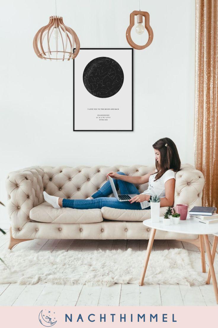 Personalisierte Sternenkarte für dein Wohnzimmer! Wunderschöne Wanddekoration …
