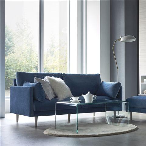 クラート ソファ 3S ブルー 青 青いソファ Francfranc(フランフラン)公式サイト|家具、インテリア雑貨