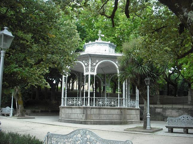 """""""Palco de la música"""", Alameda de Santiago de Compostela (Spain)."""
