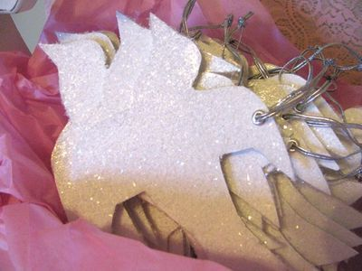 Glittered Dove Ornament...for our festival of trees 2012 ornament
