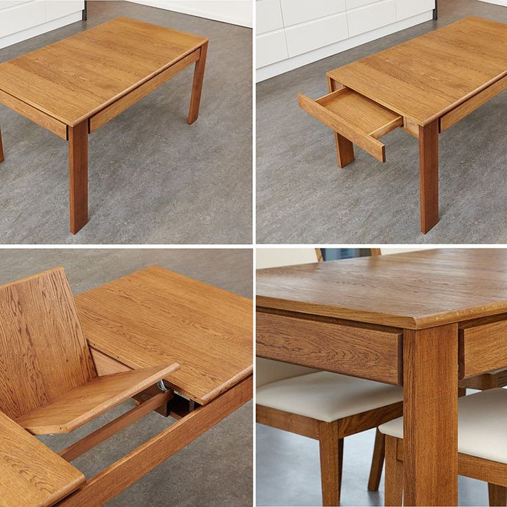 Olten - Extending Dining Table with drawer in Oak Finish -  - Dining Table - Baumhaus - Space & Shape - 3