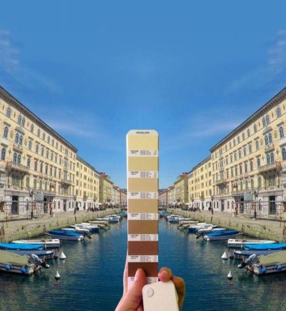 Intervista ad Andrea Antoni, il grafico di Monfalcone che trova i colori Pantone in natura. Canal grande a Trieste.