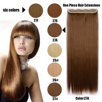 61 Centímetros 120 Gramas 1 peça Mega Hair Tic Tac Cabelo Sintético Liso Castanhos Médios Chocolate/Loiros Escuros //Price: $68.00 & FREE Shipping