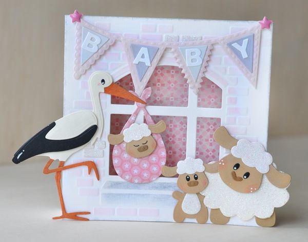 Het is alweer een week 2017 en in de winkel ligt nu de langverwachte nieuwe babycollectie die ik tekende voor Marianne Design . En om...