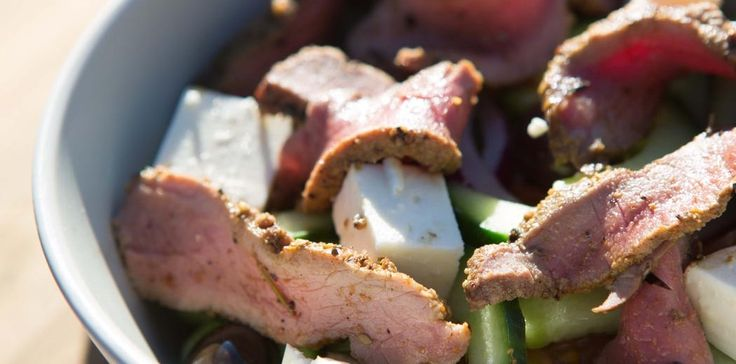 Greek Ostrich #Salad #recipe by Team Mix Masala