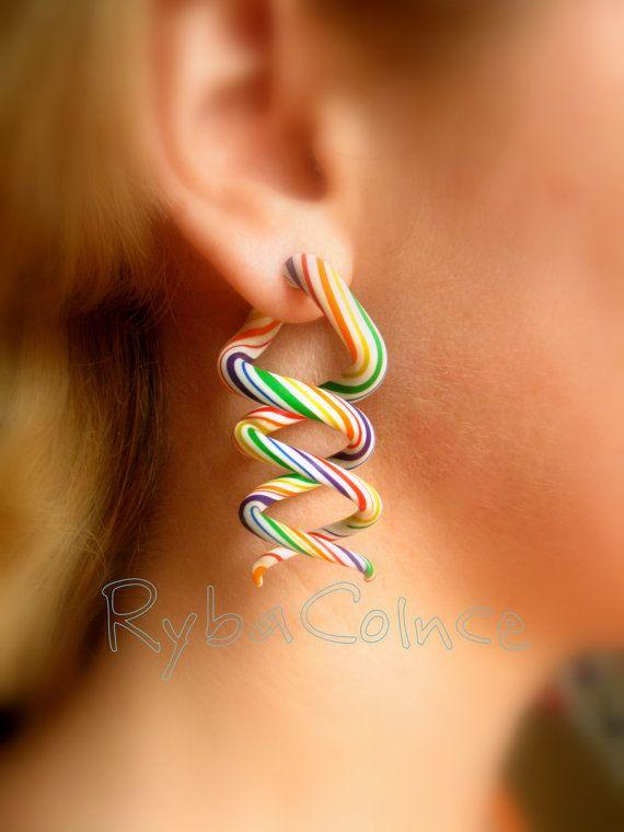 Fake ear gauge / Faux gauge/Gauge earrings / fake by RybaColnce, $25.00