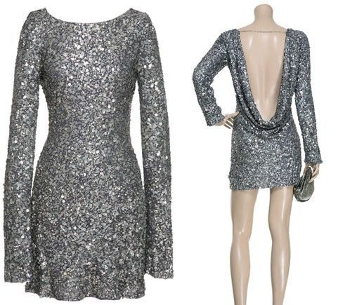 Sparkly open-back dress
