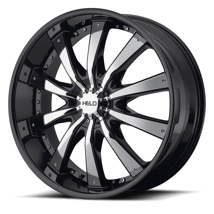 Helo Wheels HE875 Gloss Black With Removable Chrome Accents