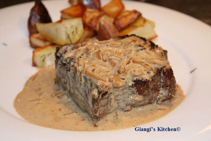 Pan Seared New York Steak with Whiskey Cream Sauce | Whiskey, Steaks ...
