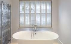 Love the shutters for the bathroom.