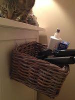 DIY Hair Dryer/Straightener Storage Solution