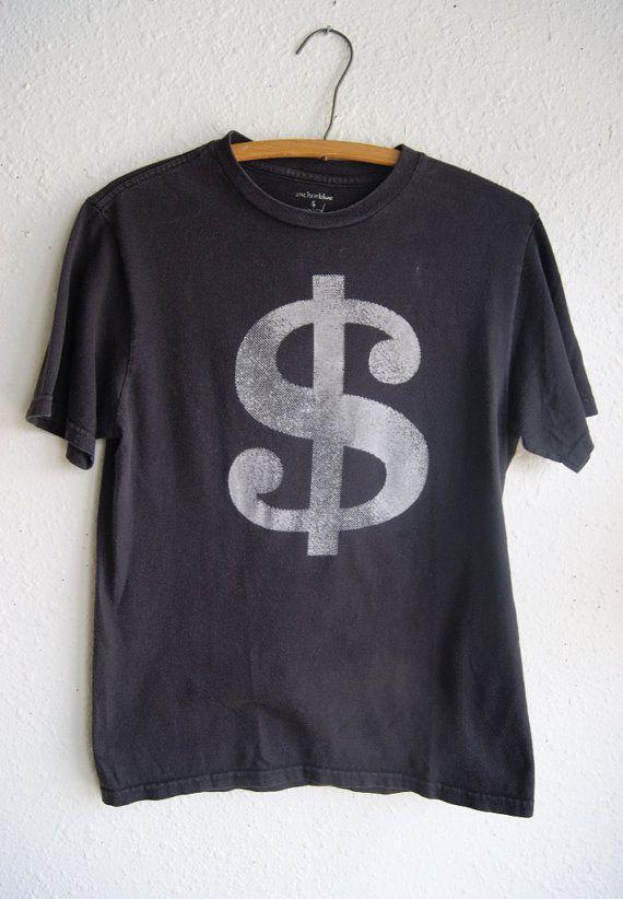Dollar Sign Black Statement Tshirt by RevivalVintageATX***SOLD