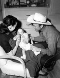 Dale Evans and Roy Rogers with their daughter Robin.