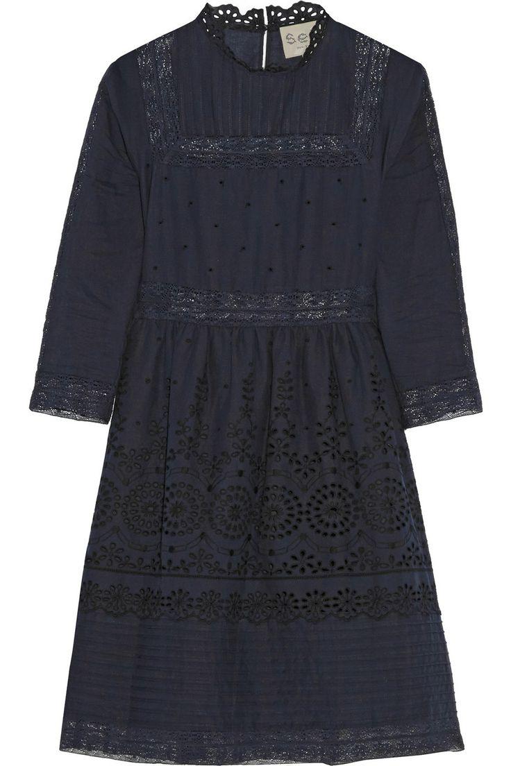 SEA|Daisy lace-paneled broderie anglaise cotton dress|NET-A-PORTER.COM