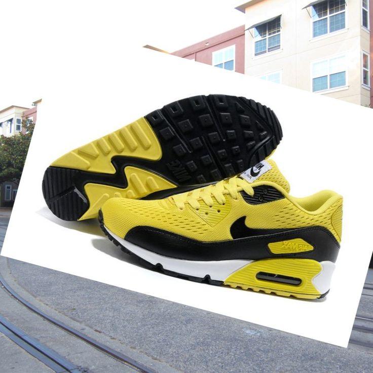 billige nike air max 90 premium em gul  sort herre trainers udtalelse online