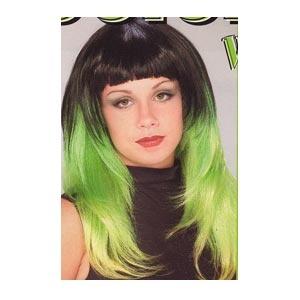Lime Delight Wig (Tri-colour)