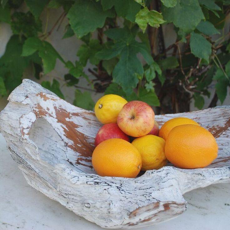 Whitewash Bowl teakwood