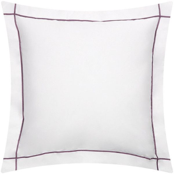 Yves Delorme Athena Pillowcase - Plum - 65x65cm ($110) ❤ liked on Polyvore featuring home, bed & bath, bedding, bed sheets, purple, plum bedding, cotton percale pillowcases, purple bedding, yves delorme and square pillowcases