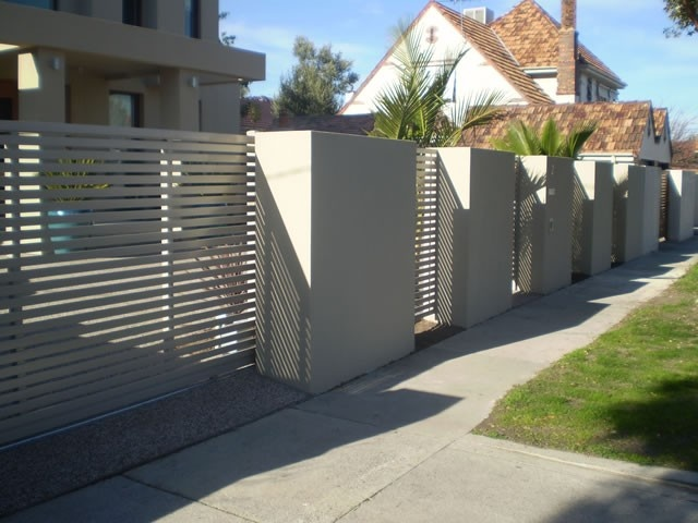 Modern Rendered Fence - Lock Fast Fences