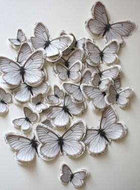 130 best images about easter butterfly decor on pinterest for White paper butterflies