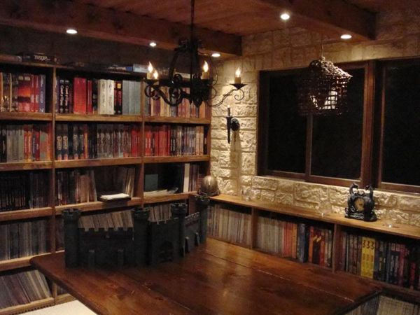 A dedicated Dungeons and Dragons Room.  Nerdvana at its best!