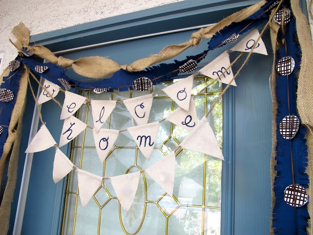DIY decor :: Welcome Home Baby Bunting