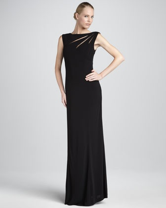 Kay Unger New York Cutout Column Gown - Neiman Marcus: Dresses Up, Grooms Dresses, The Bride, Dresses Candid, Gowns Cutout, Columns Gowns, The Dresses, Cutout Columns, Bride Dresses
