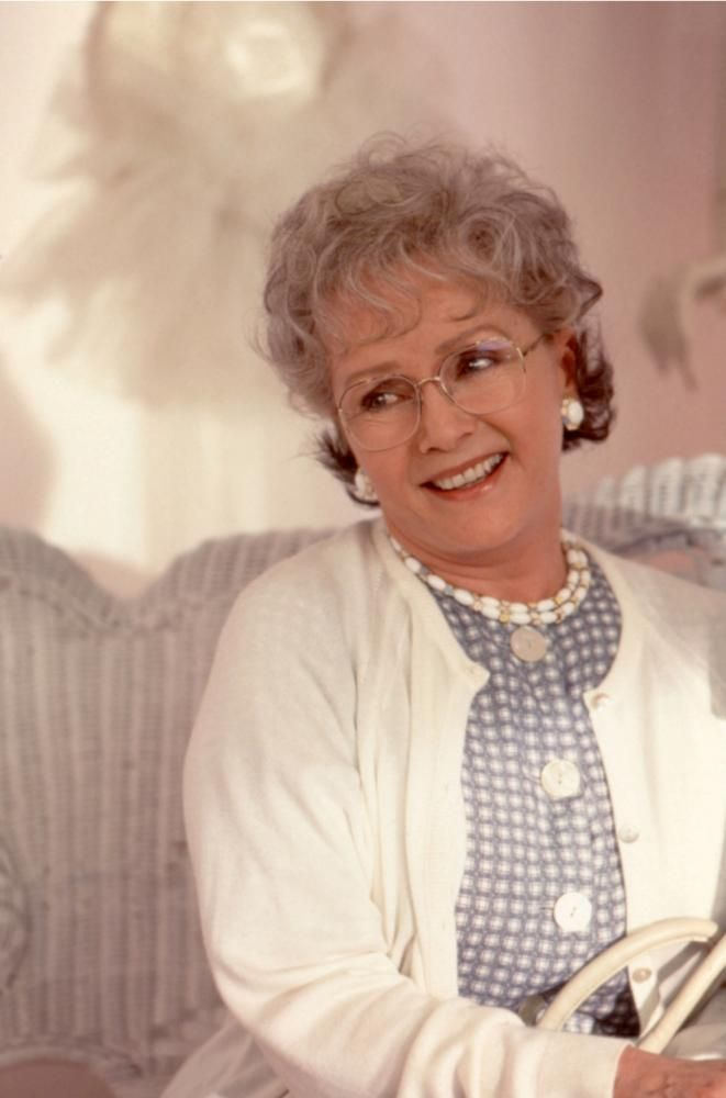 Debbie Reynolds, 1997   Essential Gay Themed Films To Watch, In And Out http://gay-themed-films.com/watch-in-and-out/