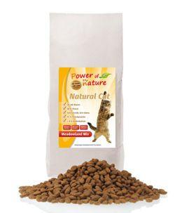 Power of Nature Natural Cat Meadowland Mix - Sucha karma dla kota (Kurczak + Indyk + Łosoś)