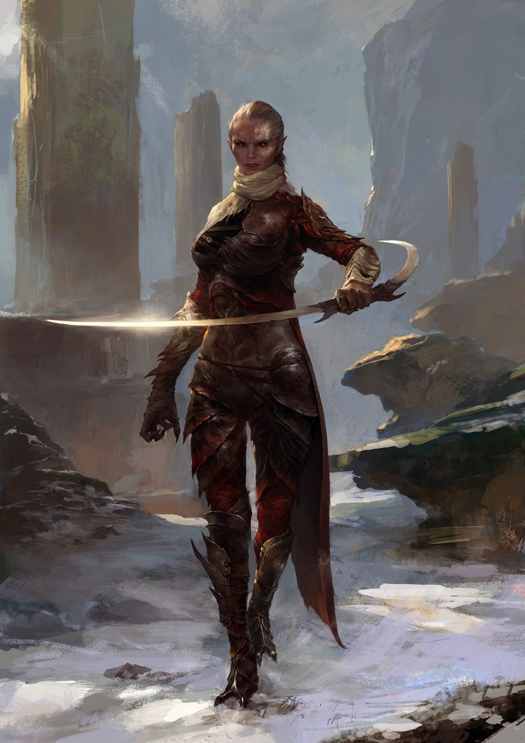 78 best images about dragon age rpg the grey wardens on - Fantasy female warrior artwork ...