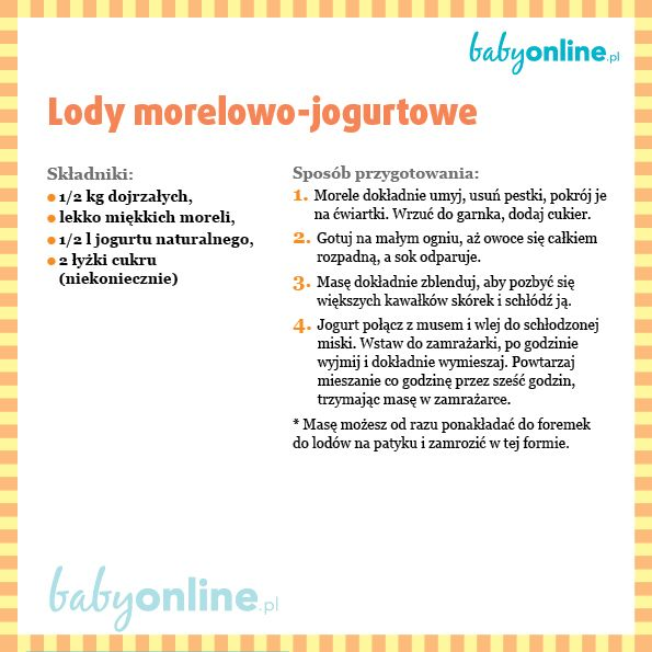 Lody morelowo-jogurtowe