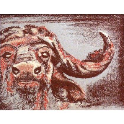 Buffle || buffalo. pastel drawing