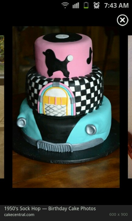 Cake idea for 50's party
