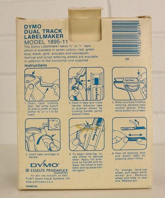 dymo embossing label maker instructions