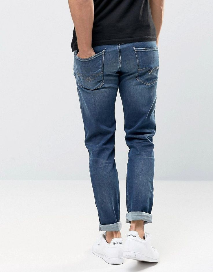 Replay Jeans Hyperflex Anbass Slim Fit Comfort Ultra Stretch Blue Wash