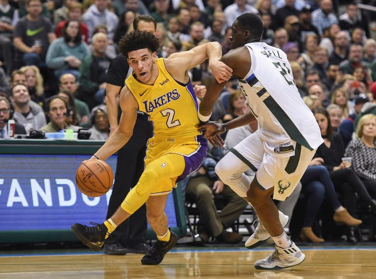 Lonzo Ball makes history with triple-double but Lakers fall to Bucks