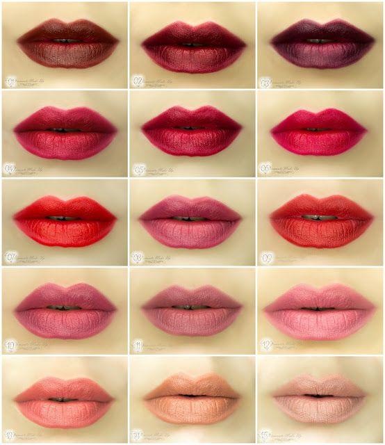 Diamante Make Up : Golden Rose Matte Lipstick Crayon - Swatche