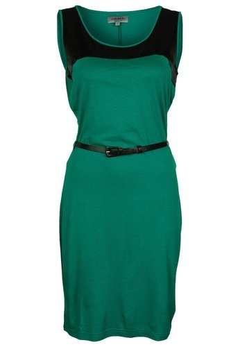 Elegant and trendy new office spring/summer green Jersey Dress Size M