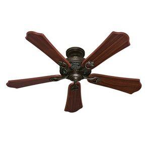 Great Room Fan = Hunter Fan HUN53202 Kingsbury Large Fan (52'' to 59'') Ceiling Fan - Roman Bronze