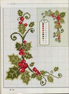 Ponto cruz: Natal … Mais