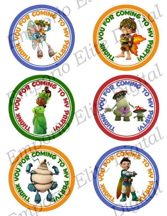 """Tree Fu Tom 3"""" Circle for Favors, Toppers, Stickers, Decorations - Digital PDF File - Printable INSTANT DOWNLOAD"""