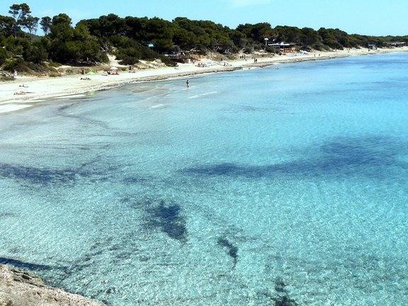 Playa las Salinas, Ibiza.