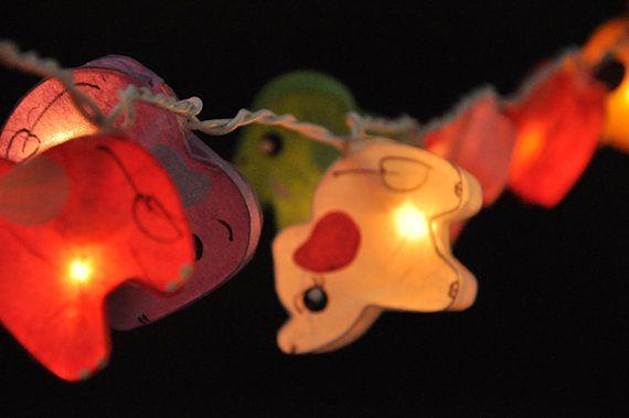 35 olifant planeet papier lantaarn string lichten kid slaapkamer licht display garland decoraties   -UL Listed zijn String Lights voor USA &…